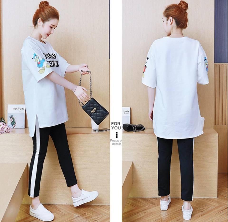 MD2230 trắng (set áo và quần)(hết hàng)