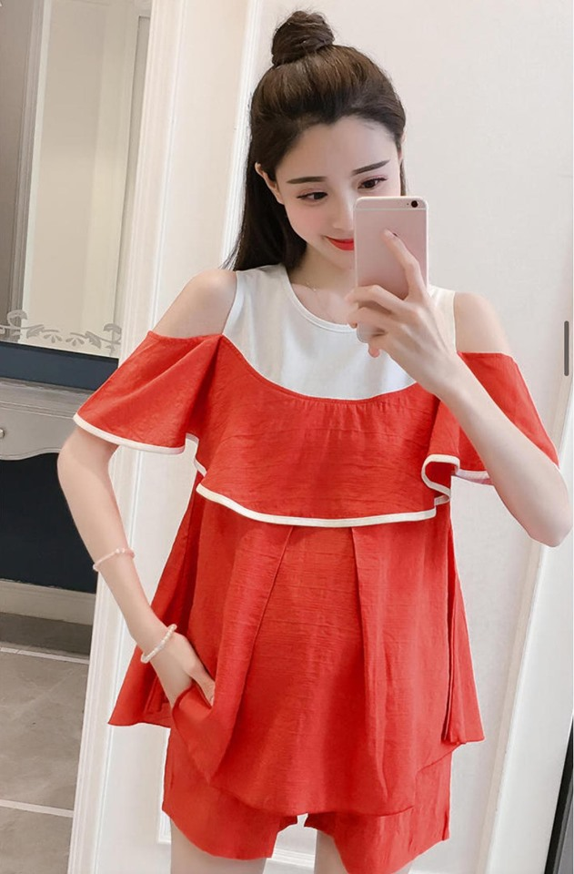 MD2782 Đỏ cam (set áo và quần)(hết hàng)